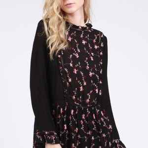 Boho Floral and Lace Blouse
